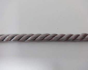 Cord, SIX YARDS,  Gray Cord, Gray Satin Cord, Satin Cord, Twist Cord, Gray Twist Cord, Grey Cord, Grey Twist Cord, Grey Satin Cord