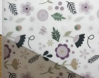 V014 - Spring Floral Vellum