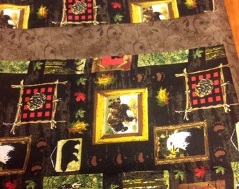 Lodge/ Cabin Reversible Table Runner ~ FREE SHIPPING !!