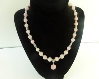 Rose Quartz Bali Silver pendant Necklace