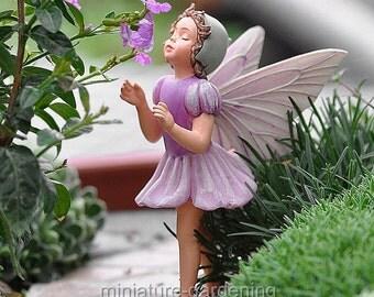 Lilac Fairy for Miniature Garden, Fairy Garden