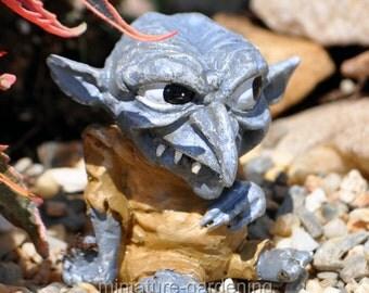Snert the Troll for Miniature Garden, Fairy Garden