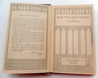 Rudyard Kipling/ Plain Tales From The Hills/ Vintage Hardcover Book