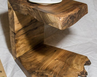 Reclaimed Walnut Pour Over Coffee Stand