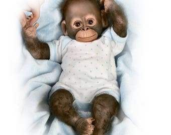 Ashton Drake - Zachary So Truly Real Baby Monkey Doll by Cindy Sales