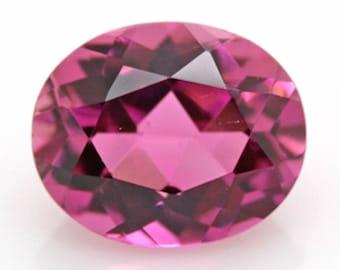 Natural Pink Tourmaline Oval Loose Gemstones (4x3mm - 10x8mm)