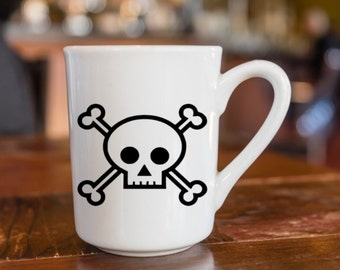 Skull and Cross Bones Vinyl Decal, Skull Laptop Sticker, Poison Phone Sticker, Mug Decal, Truck Decal, Car Decal, Water Bottle Decal