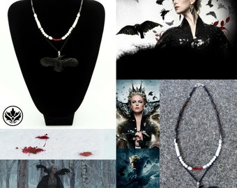 Snow White and the Huntsman Necklace, Snow White and the Huntsman Inspired Necklace, Queen Ravenna Necklace, Cosplay Necklace, Raven, Crow