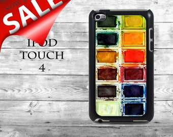 Fun realistic watercolors - SALE iPod Touch 4G case - watercolor set water colors box phone iPod Touch case,  iPod cover