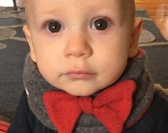 Cashmere Bow Tie Neck Warmer, Toddler Cowl, Bow Tie Cowl, Kids' Winter Bow Tie, Children's Cowl, 12 months - 5T