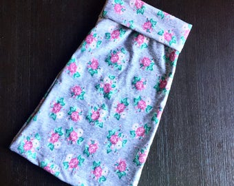Grey and pink floral baby/toddler maxi skirt. Size newborn-5T. Baby maxi skirt