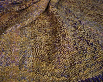 Unique hanspun, handwoven, angora-merino shawl
