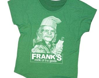 Shameless Shirt - Frank from Shameless Hand Screen Printed on a Womens Dolman - Green St. Patricks Day Shirt