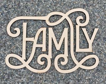 Family / Wood Sign  / Laser Cut / Wall Art