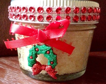 Christmas Gifts for Coworkers/Gift Under 10/Christmas Organic Bath and Beauty Hand and Body Sugar Scrub/Christmas Stocking/Secret Santa Gift