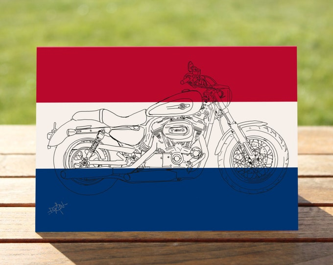"Harley Davidson Sportster Motorcycle Gift Card | | A6 - 6"" x 4""  / 103mm x 147mm  