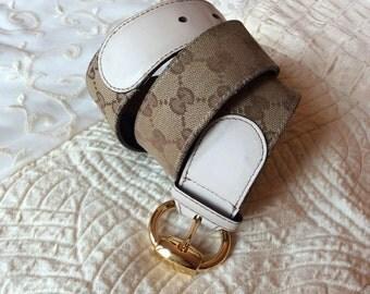 Gucci belt fabrics and leathers