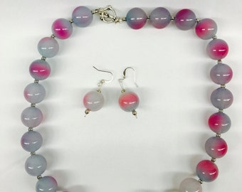 "Variation  Color Bead 20""  Necklace  Set"