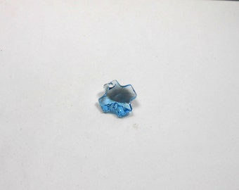 1 Aquamarine Swarovski Cross,  20 mm Crystal Cross, Swarovski, Pendants, Beads, Jewelry Supplies, Bead Supplies, Jewelry Making,