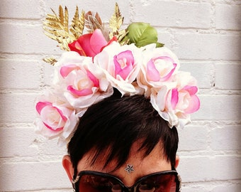 Floral crown ~ festival headdress ~ bohemian ~ boho - instagram filter ~ day of the dead