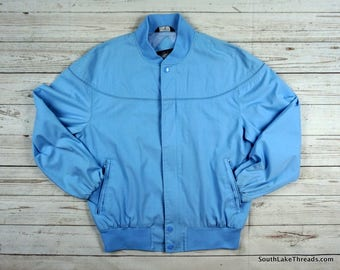 VTG Knights Bridge for Men Jacket Carolina Blue Men's Medium - Members Only Style - Great Shape