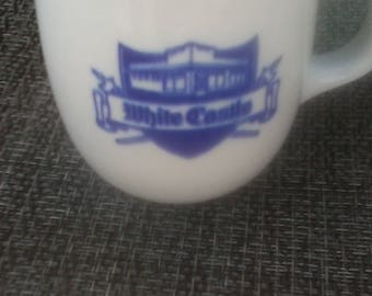 WHITE CASTLE coffee diner cup MUG Flip  Over ashtray  rare .sliders