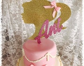 Barbie Cake Topper - Barbie Party Decorations - Barbie Party Decor - Barbie Party Centerpiece Pick - Barbie Birthday Party Cake Topper