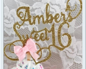 Sweet 16 Party - Sweet 16 Cupcake Toppers - Sweet 16 Party Decorations - Sweet 16 Party Decor - Sweet 16 Birthday Party Cupcake Toppers