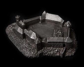 Ljubljana castle historical architecture scale 1:2000 lead free pewter building souvenir Archiminima replica