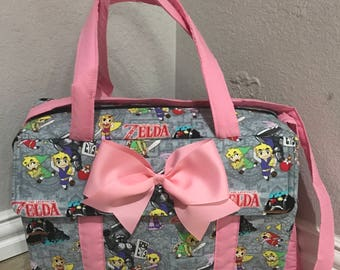 Girl s Nintendo Zelda Sword power diaper bag with detachable changing pad