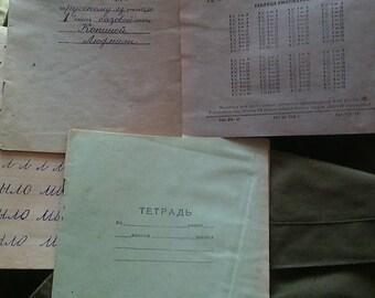 Soviet school notebook