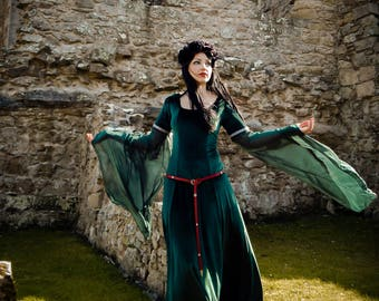 Lady Macbeth Dress Handmade Medieval Gothic Velvet LOTR Game of Thrones *Other colours available*