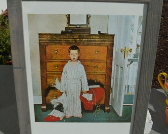 """Framed Norman Rockwell Poster - """"The Discovery"""""""