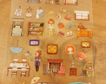 Family Stickers, Ice Cream Van, Fireplace, New Home Cardmaking Stickers
