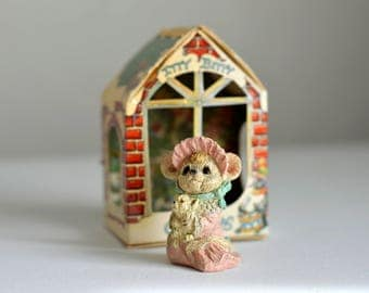 Vintage,Itty Bitty Christmas,Baby Mouse Ornament,Mouse Christmas,Vintage Mouse,1986 Christmas