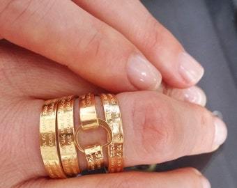Goldfilled Fertility goldfilled ring with Hannah's prayer