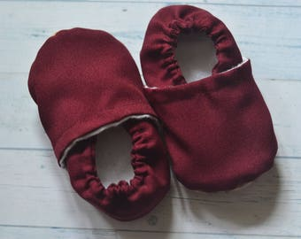 burgundy baby shoes red girl shoes burgundy booties red kids shoes red booties red baby slippers valentine baby burgundy baby shower gift