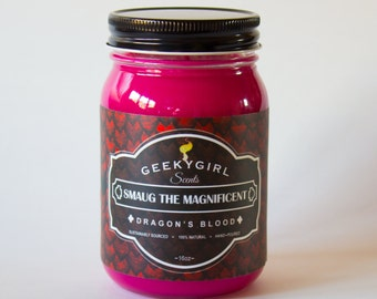 Smaug the Magnificent | 16 oz Jar Candle | Dragon's Blood