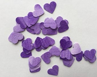 paper heart confetti, party decoration, Valentine's Day, watercolor, purple