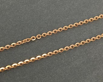 925 Sterling Silver Tose Gold Plated Cable Chain