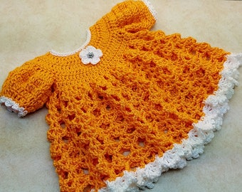 Crochet My Darlin Clementine Baby Dress Pattern 6-12M only DIGITAL DOWNLOAD ONLY