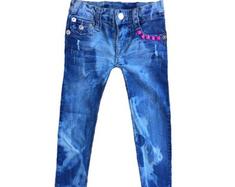 SALE Toddler girl jeans Bleached denim Distressed denim Toddler girl clothes Girl clothes Size 5T Girl