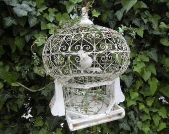 Haunted old vintage bird cage shabby patina France franske danske