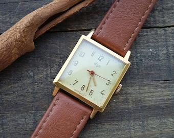 LUCH Soviet USSR, Rare Luxury Watch, mechanical watch, Vintage Luch USSR Soviet Russian