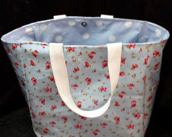 Oil Cloth Tote Lunch Bag, Small Tote Bag