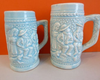 Miniature Beer Steins, Made in Japan, Set of 2, Small & Smaller