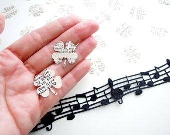 Irish clover confetti, Vintage dictionary confetti, Irish party decoration, St Patrick's day Shamrock table confetti, Irish wedding confetti