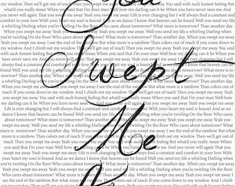 "Avett Brothers ""Swept Away"" Lyrics Digital Print"