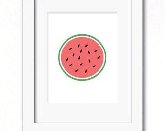 A4 watermelon print