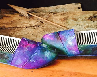 Galaxy Shoes / Hand Painted Shoes / Cosmic Shoes / Colorful Shoes / Unique Shoes / Nebula Shoes